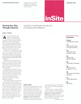 INSITE: Carving Your Way Through Customs