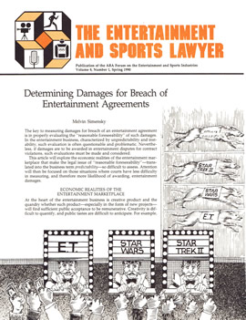 The Entertainment and Sports Lawyer